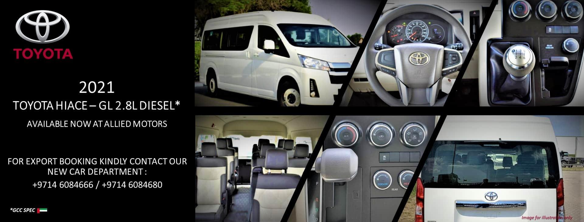 Toyota Hiace GL 2.8L 2021